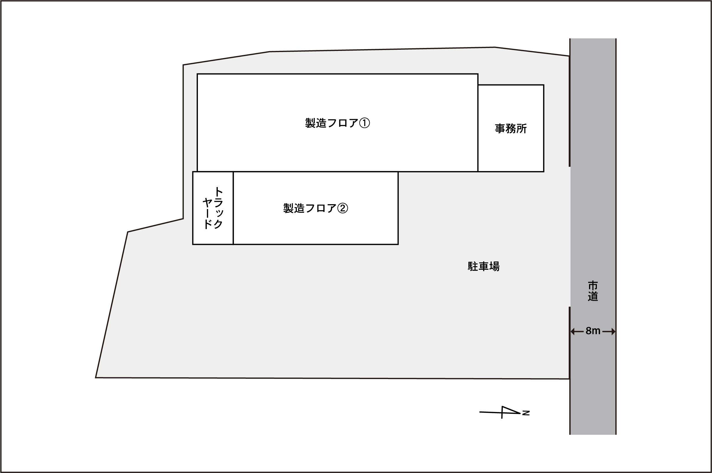 胆沢工場敷地図