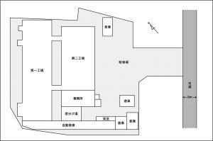 江刺本社工場敷地図
